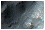 Fonte de fluxo de detritos em Hydrae Chasma