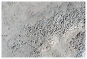 Channels Near Crater in Arabia Terra