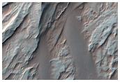 Abanico aluvial en el cráter Roddy