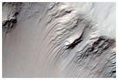Small Crater on Gale Crater Rim
