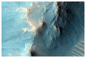 Impact Crater with Layered Ejecta