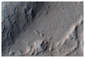 Flow on Crater Wall Near Echus Chasma