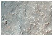 Channel Near Mound North of Hellas Planitia