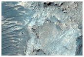 Deep Erosional Window into Niesten Crater Fill