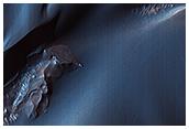 The Velvety Blue Dunes of Melas Chasma