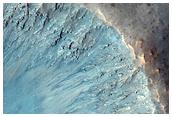 Fresh Crater North of Valles Marineris
