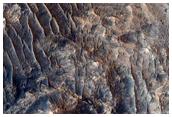 Circular Mesa on West Candor Chasma
