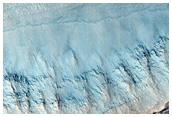 Crater Wall in Terra Sirenum