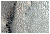 Possible Gullies on Crater Wall