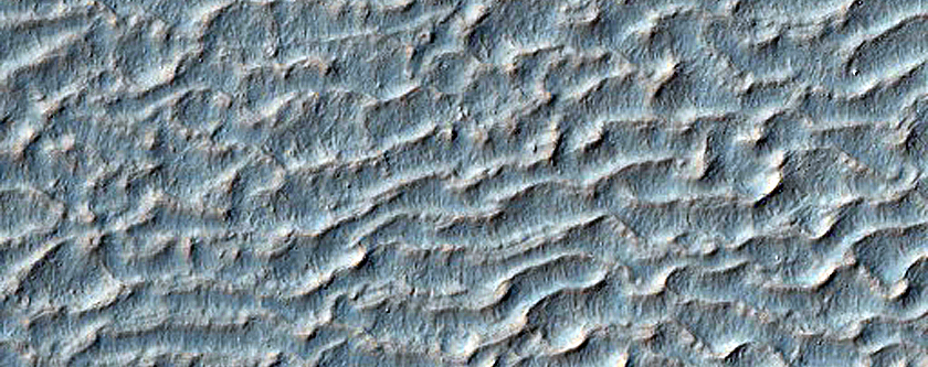 Bedforms on Floor of Li Fan Crater