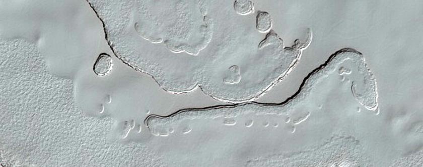 South Polar Cap Vertical Change Monitoring