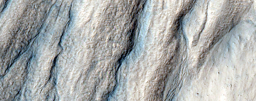 Gullies with Filled Arcuate Ridge