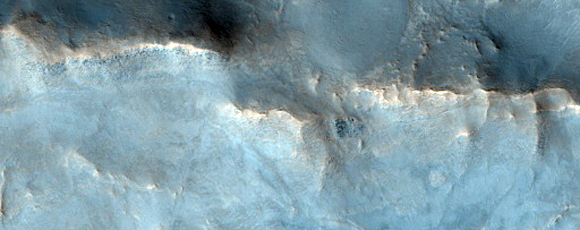 Kaolinite-Rich Terrain in Crater West of Nili Fossae