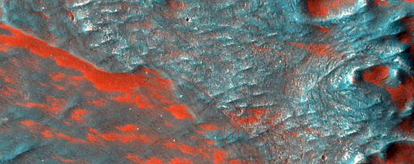 Flow Features in Zilair Crater