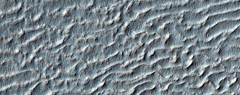 Bedforms on Floor of Li Fan Crater