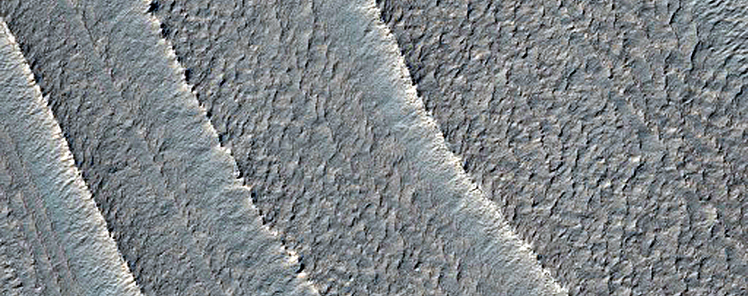 Layering in Burroughs Crater