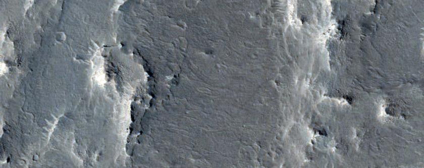 Ridges West of Vernal Crater