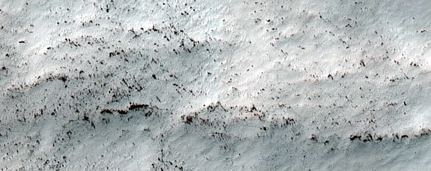 South Polar Layered Deposits Exposure Near Residual Cap