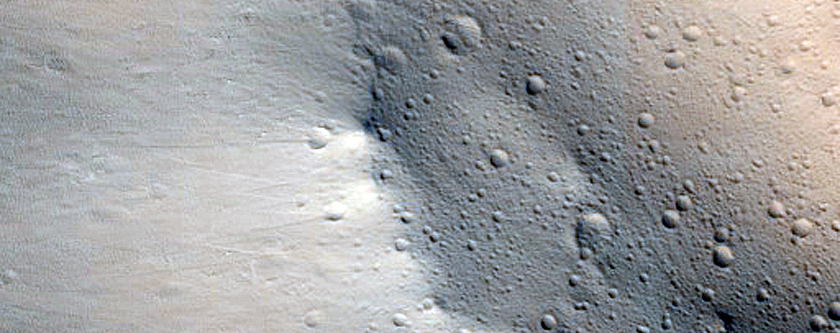 Dark Slope Streak Monitor Site Overlapping Previous MOC Image Coverage
