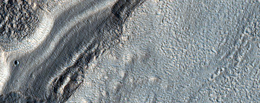 Layered Feature in Promethei Terra