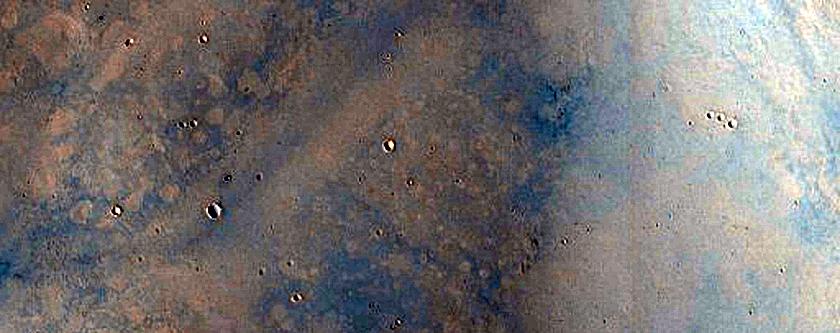 Central Peak of 38-Kilometer Diameter Crater in Terra Sabaea