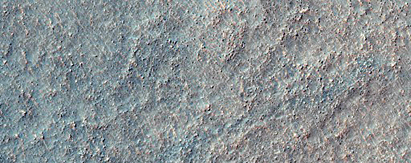Ridges Radial to Wall in Crater Located South of Bosporos Planum