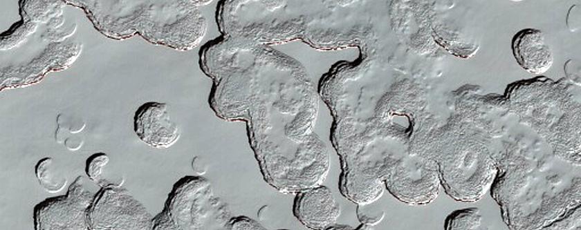 South Pole Residual Cap Change Detection