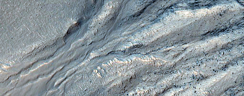 Gullied Material on Crater Wall in CTX B18_016512_1369_XI_43S357W