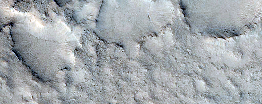 Landforms on Floor of Antoniadi Crater