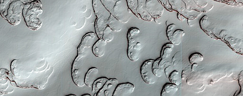 South Pole Residual Cap Texture on Ridges