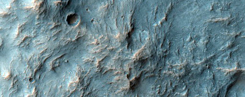 Crater Rim and Ejecta Blanket