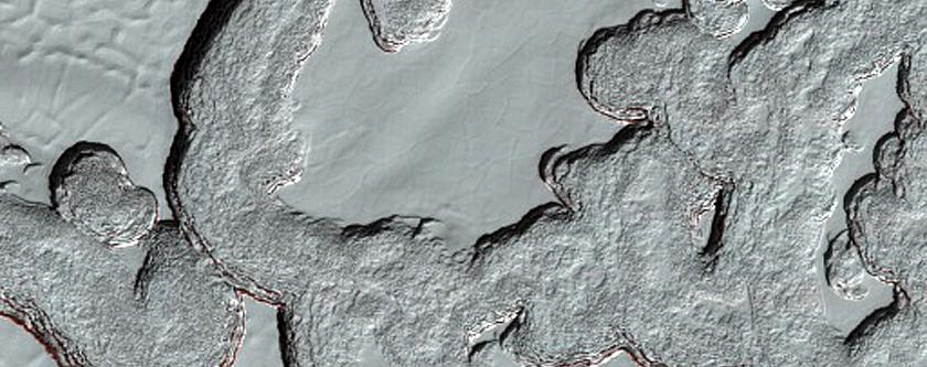 South Polar Residual Cap Swiss Cheese Terrain