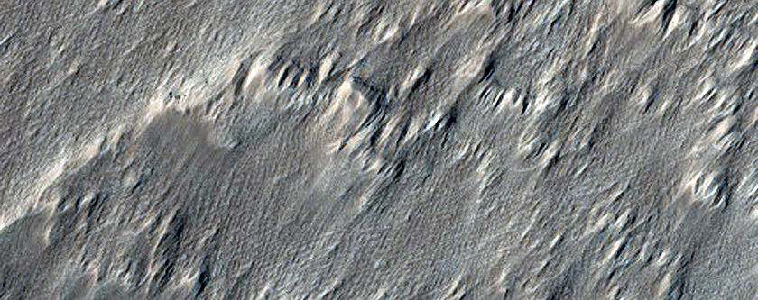 Pit Crater Chain Southwest of Arsia Mons