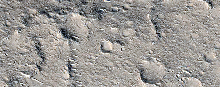 Landforms in Elysium Planitia