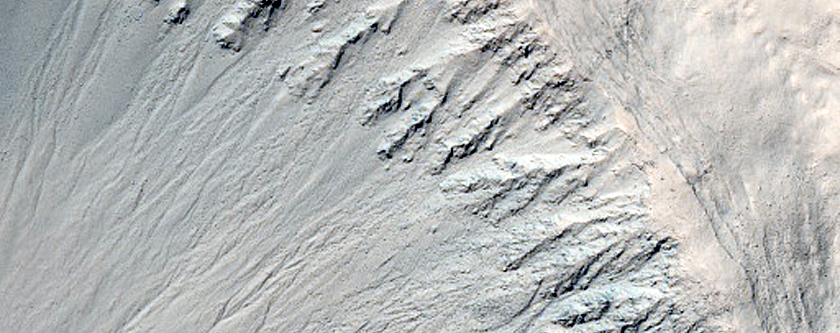 Crater with Rocky Walls