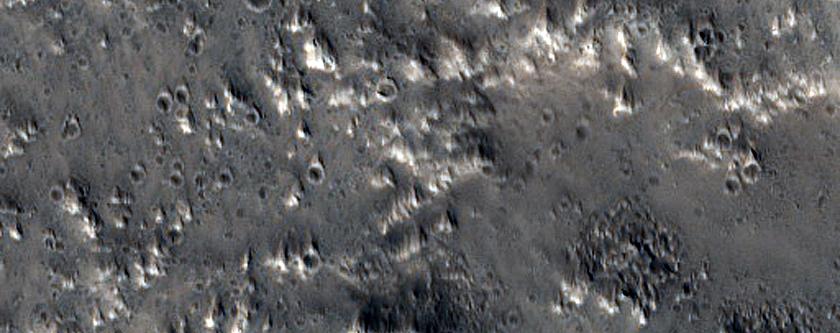 Ejecta of 10-Kilometer Crater Northeast of Acheron Fossae
