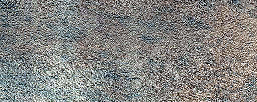 Alcoves in Polar Crater