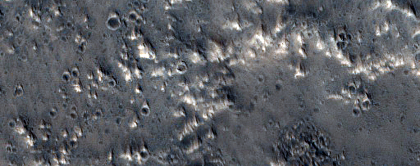 Ejecta of 10-Kilometer Crater Northeast of Acheron Fossae