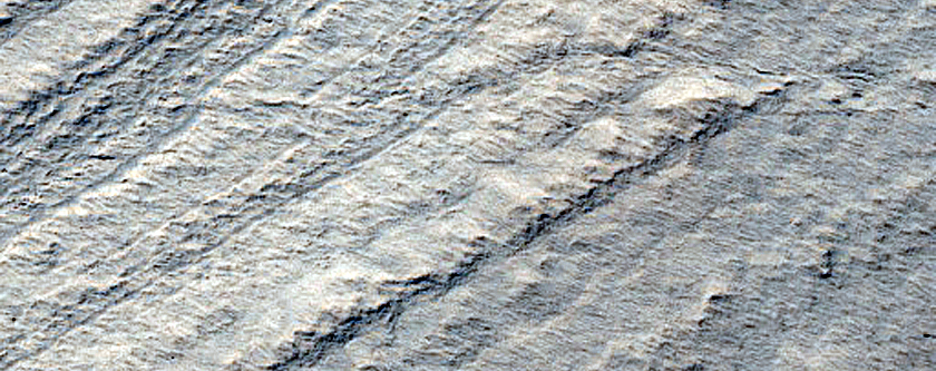 Basal Exposure of South Polar Layered Deposits