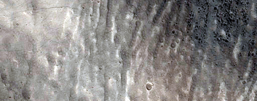 Valleys within Crater near Alba Patera