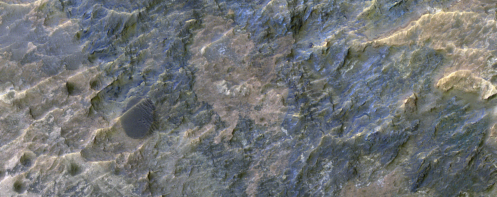Colorful Impact Ejecta in Ladon Valles