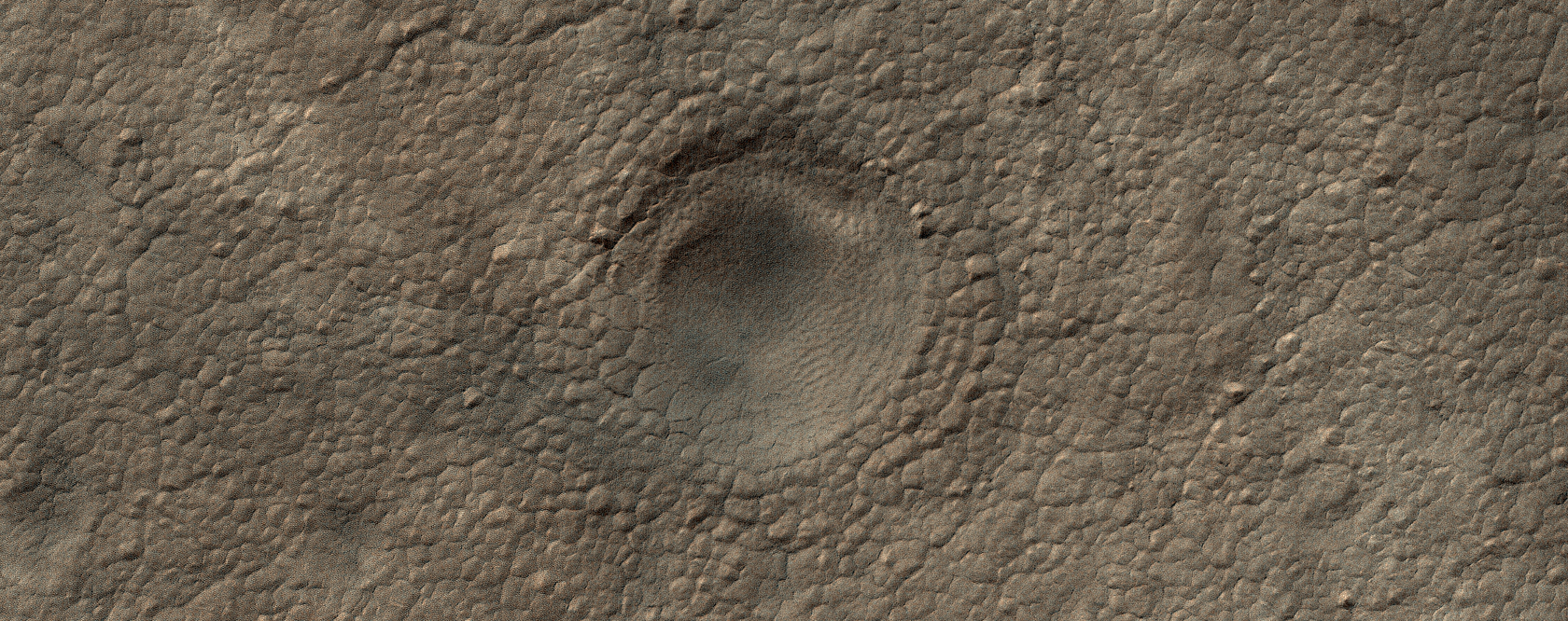 A Crater on the South Polar Layered Deposits