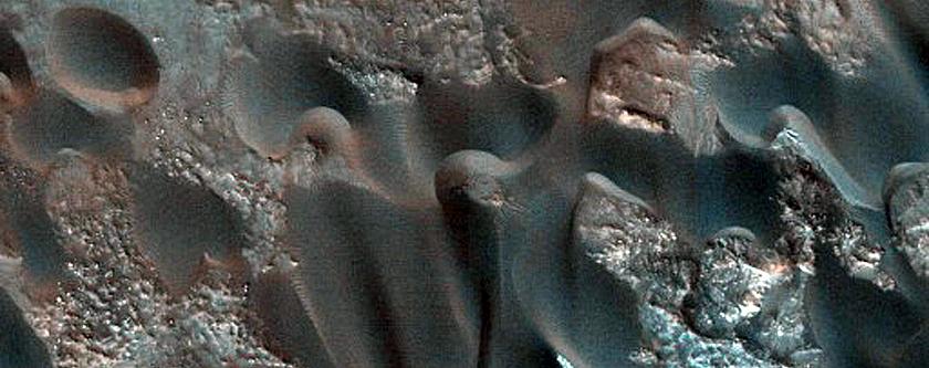 Bonestell Crater Dune Field Activity Monitoring