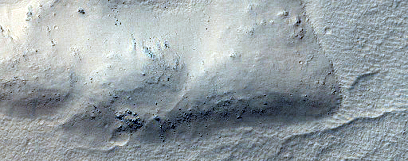Gullies from Layers in Asimov Crater in MOC Image R1600339