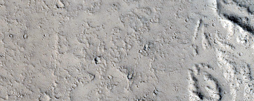 Crater Breach and Kasei Valles Lava Flow