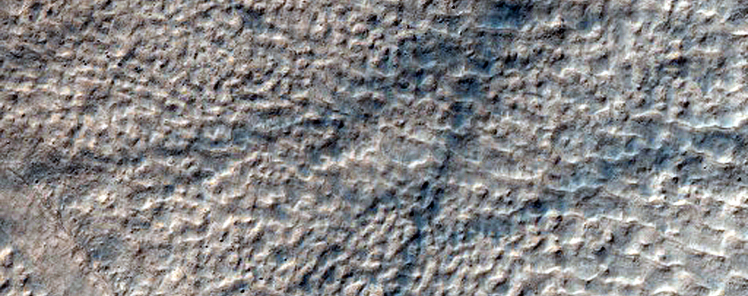 Gullies and Pits in Crater Near Copernicus Crater