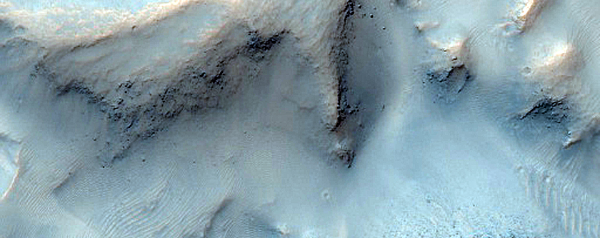 Chaos Terrain in Small Impact Crater