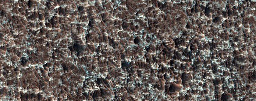 Intercrater Plains Deposits in Tyrrhena Terra