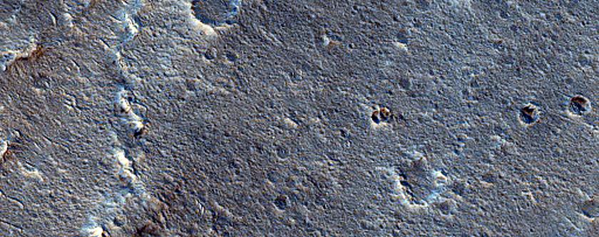 Wrinkle Ridge on Lava Flow South of Aromatum Chaos