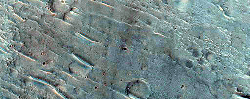 Collapse Terrain South of Orson Welles Crater